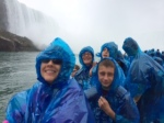 On the Maid of the Mist at Niagara Falls