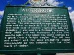 Alderbrook Historic Marker