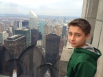 Tyler at the Top of the Rock